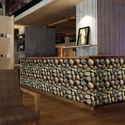 酒吧墙纸壁自粘实体店