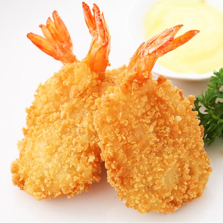 蝴蝶虾油炸面包虾西餐厅饭店冷冻半成品休闲小吃海鲜点心酒店商用