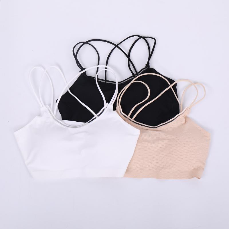 抹胸小吊带短款无钢圈带胸垫小背心吊带无痕裹胸运动瑜伽内衣女