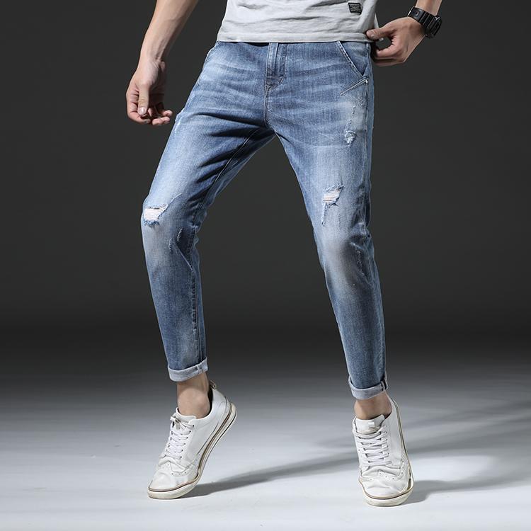 男生牛仔裤青春