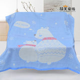 Angmei cotton three-layer four-layer gauze square bath towel children's quilt children's blanket baby quilt baby towel