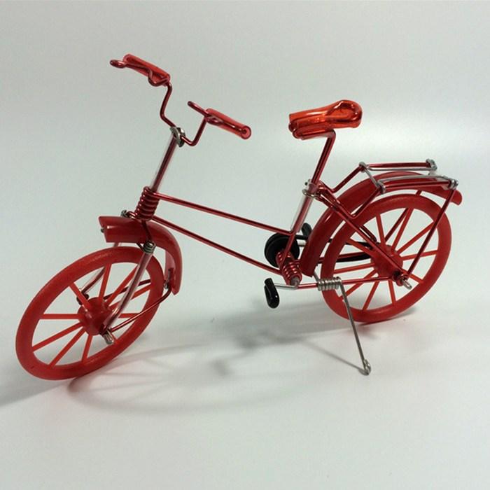 儿童自行车玩具纯手工制作合车模铁艺自行车模型摆件小创意礼品