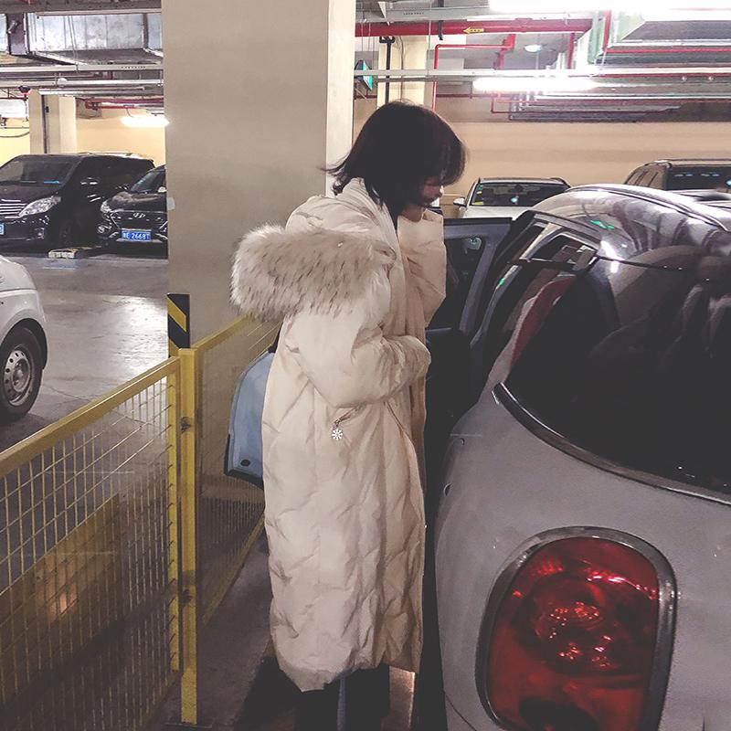 2018冬装新款东大门羽绒棉服女装中长款过膝棉衣加厚棉袄冬季外套