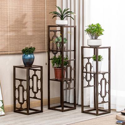 花架客厅置物架中式花架子阳台简约现代花几绿萝楠竹吊兰落地花台