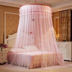 1帐子吊顶顶床幔宫廷蕾丝软体床沙发床花边吊挂式圆顶蚊帐奢华