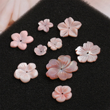 Ocean pink purple shell carving flower petals sea shell tablets diy handmade jewelry materials accessories