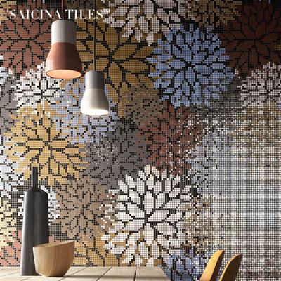 简欧北欧玻璃马赛克艺术拼图厨卫阳台卫生间背景拼花自粘瓷砖墙贴今日特惠