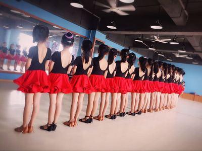 新款春夏儿童拉丁舞服装女童丝绒加厚长袖分体练功少儿拉丁舞比赛