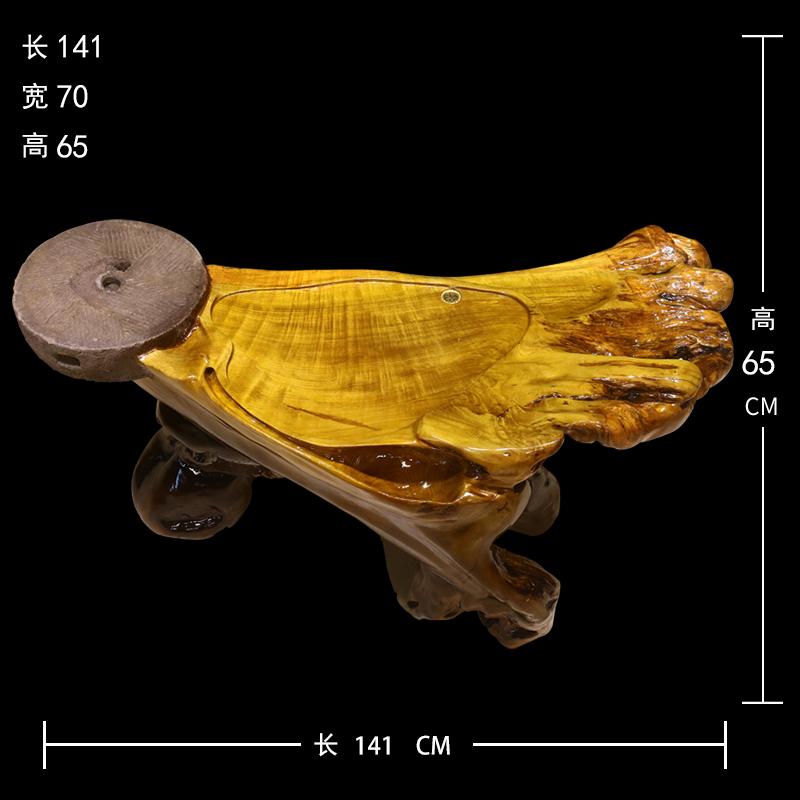 香樟木根雕茶台 尺寸说明