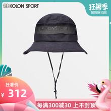 遮阳透气折叠太阳帽 19夏季韩国同款 SPORT可隆户外渔夫帽男 KOLON