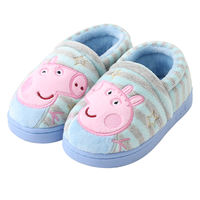 Pig Peggy Children's Cotton Slippers Baby Female 1-3 Years Lovely Home Boy Indoor Fur Soft Slip Cotton Shoes