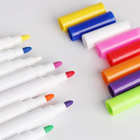 Dust-free color Blackboard chalk kindergarten washable graffiti brush children's colorful pen water-soluble liquid chalk