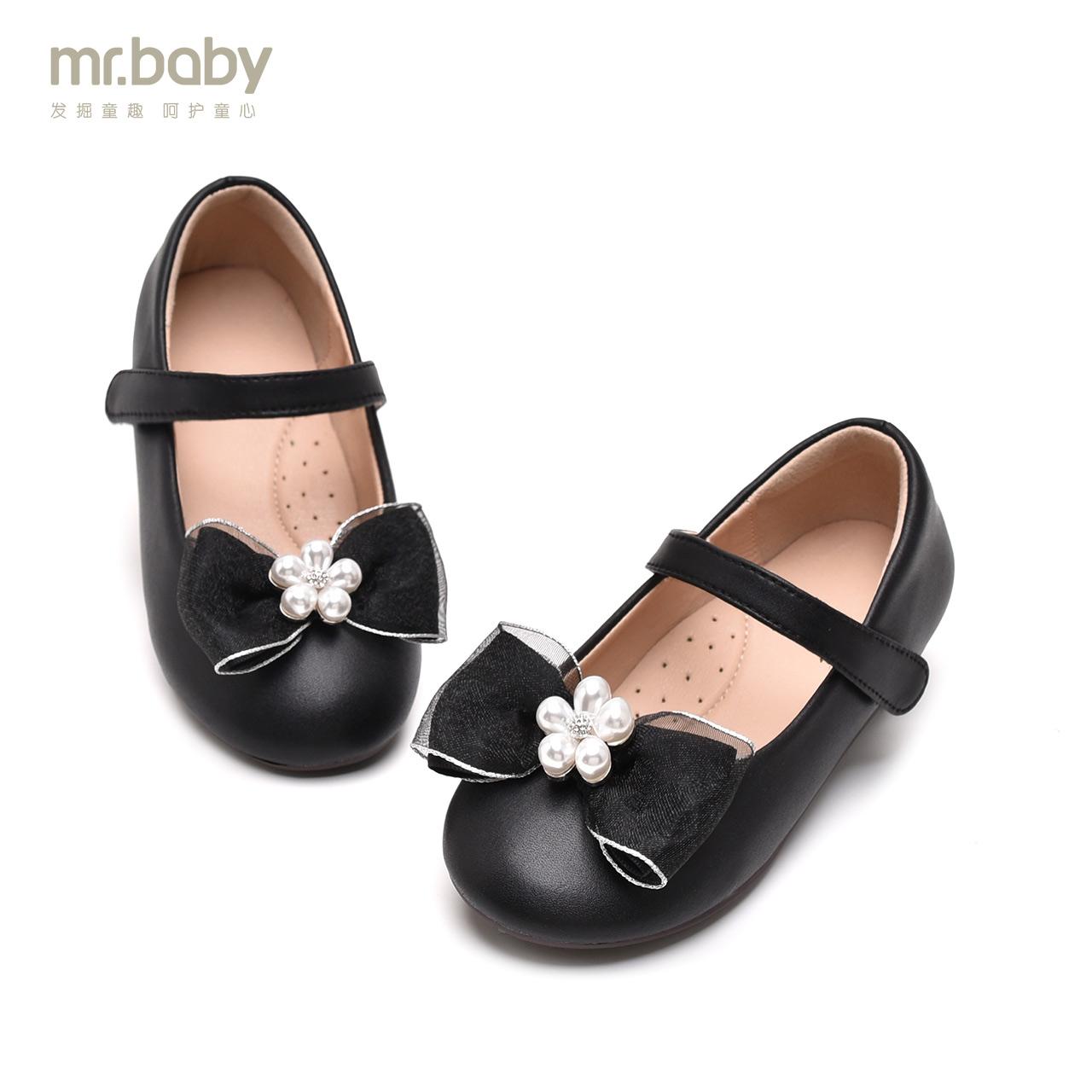 mrbaby鞋子童鞋2019软底演出鞋小女孩单鞋儿童公主鞋女童小皮鞋女