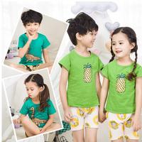 童装儿童套装夏季男童女童短袖短裤二件套中小童婴儿洋气宝宝夏装