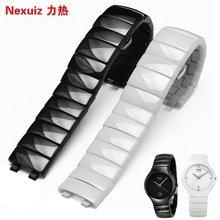 力热陶瓷手表带男女款手表配件适配Rado雷达真系列黑白色表链