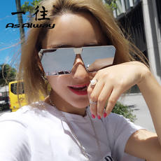 5cb898cdb3 New polarized sunglasses female eyes 2018 personality square net red with  the same paragraph sunglasses men