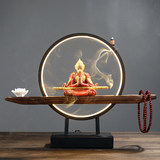 Chinese Zen ornaments small night light living room porch Sun Wukong Qitian Dasheng home decorations tea room backflow incense