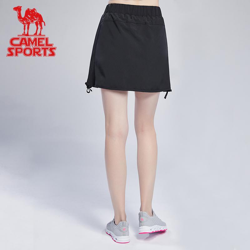 骆驼运动裙女 2019年 夏季新款短裙透气半身裙迷你A字裙网球裙子