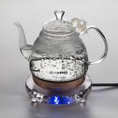 德韵玻璃电热水壶 家用迷你泡茶炉烧水自动断电 水晶电茶壶正品