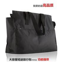 欧美新款尼龙包大包短途旅行包单肩手提大容量防水拉链购物袋帆布