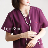 Chengda Zhimei Korean short-sleeved brush suit clothes purple pet doctor uniform overalls men and women split suit