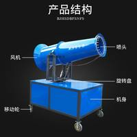 Small vehicle-mounted site dust-removal spray gun machine Large-scale gasoline and diesel automatic 15/30 meter environmental protection