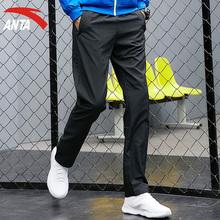 安踏运动裤男裤冬季正品官网2018丝光绒长裤跑步裤休闲裤长裤卫裤