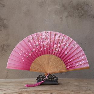 古风折扇工艺扇中国风女扇动漫舞蹈扇拍照道具创意日式和风礼品扇