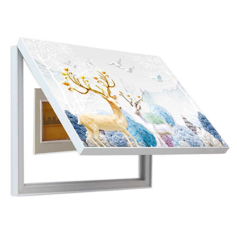 电表箱装饰画免打孔北欧现代简约配电箱开关遮挡挂画客厅餐厅壁画