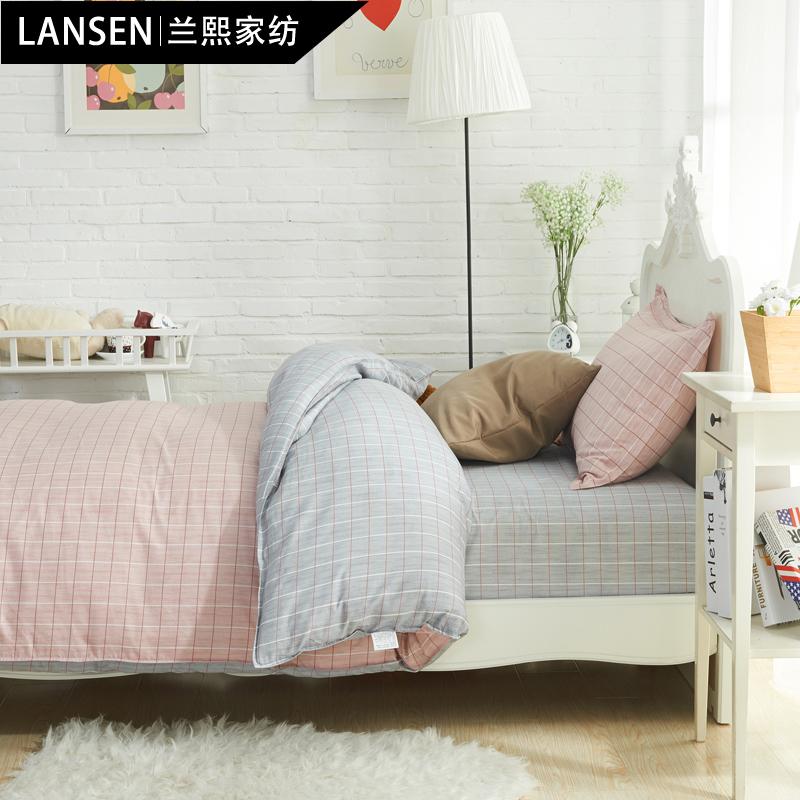 学生宿舍单人床单三件套 被套儿童床上用品 纯棉三件套1.2米床品