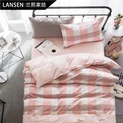 纯棉学生宿舍被套单人床上三件套床品 儿童床单1.2米床上用品全棉
