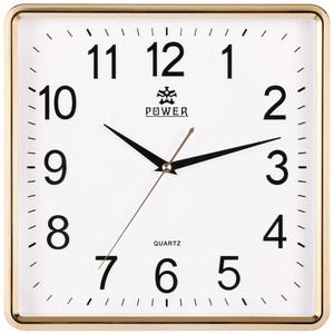 霸王钟表方形客厅时钟卧室简约挂钟中式创意壁钟静音电子石英挂表