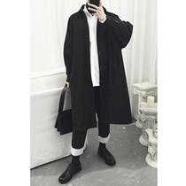 NO.688春秋新款长外套长马甲小外套大码时尚休闲2018男两件套风衣
