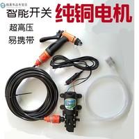 车载家用高压洗车12V 220V电动洗车器微小型水泵洗车机清洗水枪