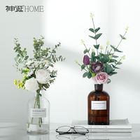 Ins Nordic small fresh fake flower artificial flower living room decoration vase decoration dining table plastic 绢 floral ornaments