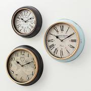 美式乡村创意仿古时钟客厅餐厅卧室墙上钟表挂钟欧式复古静音挂表