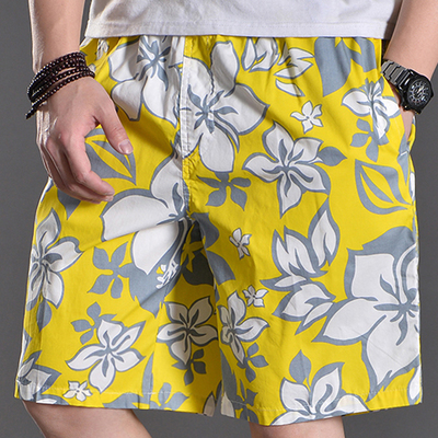 夏季薄款大码裤衩 加肥加大沙滩裤宽松休闲短裤男五分裤肥佬中裤
