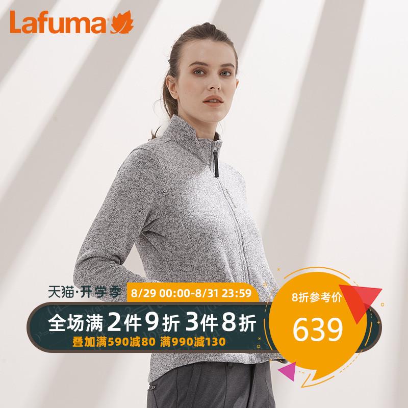 LAFUMA乐飞叶女款户外徒步轻便保暖摇粒绒抓绒衣LFJA8CR80