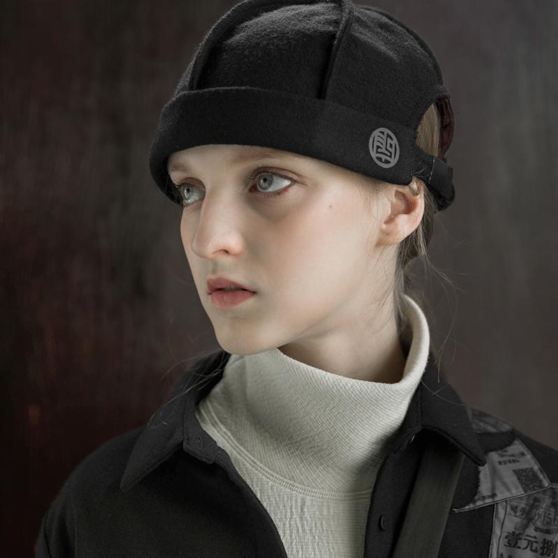 撞色冬季帽