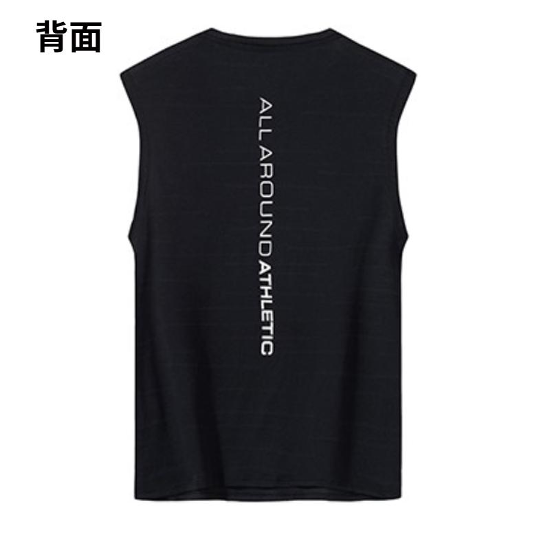 安踏短袖T恤男夏季2019新款黑白透气无袖跑步健身运动服上衣背心
