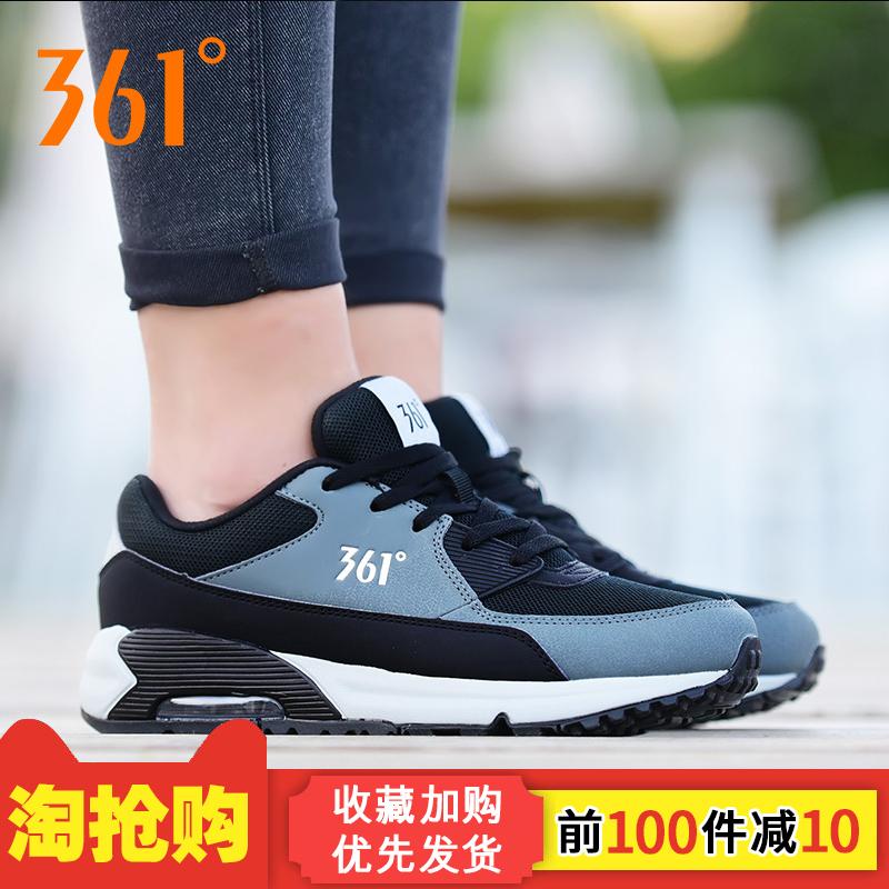 361女鞋运动鞋复古气垫跑鞋秋冬361度休闲鞋男女增高轻便休闲板鞋