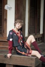 现货素心SUSIN折纸和风基佬lolita套装外套裤子内搭套