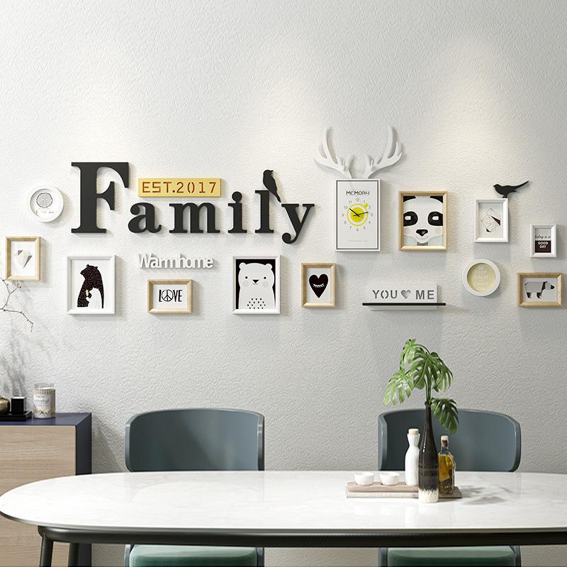 照片墙装饰相框墙悬挂现代简约客厅卧室创意个性墙壁装饰挂墙组合5元优惠券