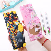 Transformers multi-function stationery box pupils kindergarten children with 1-3-5 grade pencil case Korea simple small fresh boys and girls pen box creative large-capacity pencil bag cartoon cute