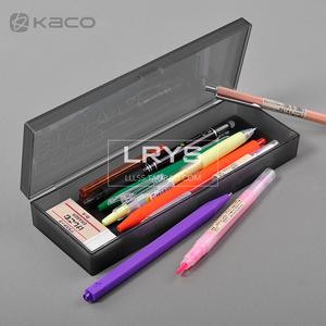 正品笔盒透明磨砂黑白色文具盒男女凸纹铅笔盒创意简约奢华铅笔盒
