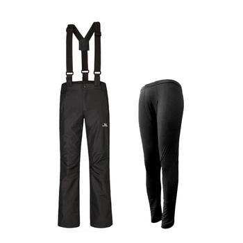 wildview迪为两件套冲锋裤防水透气抓绒可拆卸男女登山裤