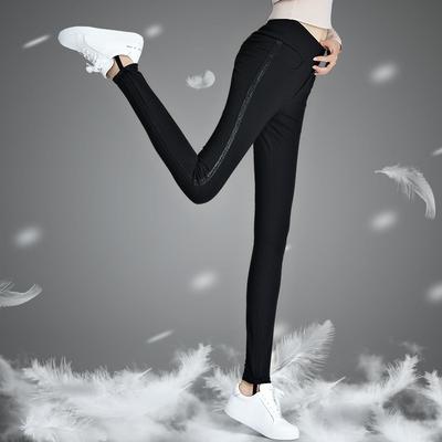 羽绒裤女外穿显瘦高腰保暖加厚冬季新款女式弹力白鸭绒小脚棉裤子