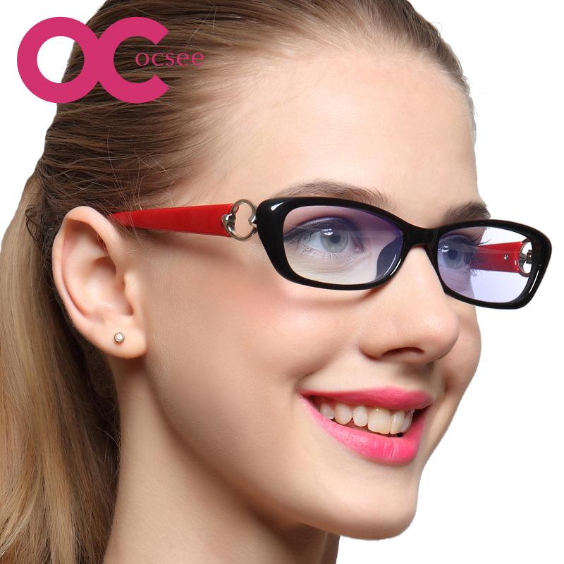 防蓝光老花镜女优雅时尚年轻超轻舒适简约便携超发水老光镜OCSEE