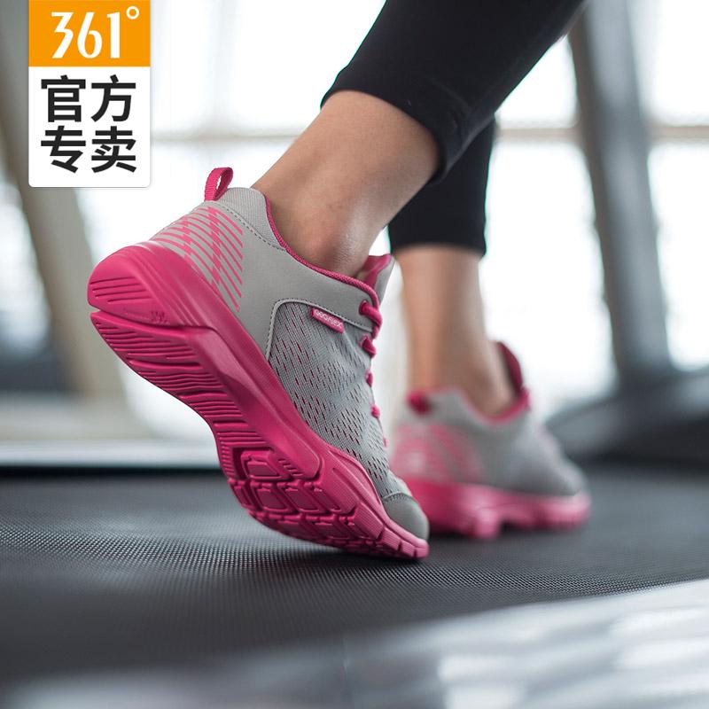 361度女鞋網面運動鞋2019夏季新款361跑鞋透氣休閑跑步鞋子運動鞋