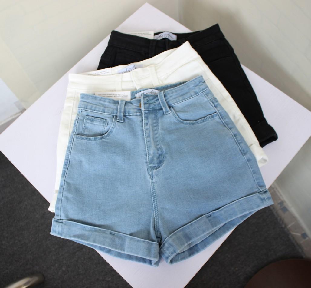 牛仔短裤修身包臀
